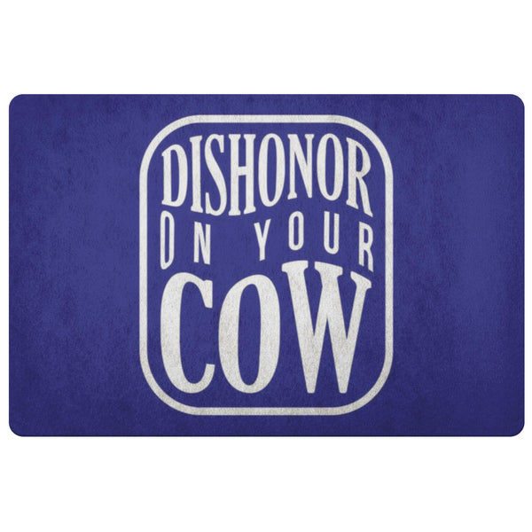 Dishonor On Your Cow 18X26 Door Mat Funny Gift Idea Sarcastic Humor Snarky Gag-Doormat-Navy-JoyHip.Com