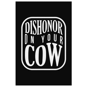 Dishonor On Your Cow Canvas Wall Art Room Decor Funny Gift Ideas Humor Sarcasm-Canvas Wall Art 2-8 x 12-JoyHip.Com