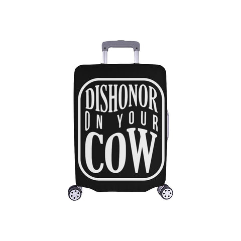 Dishonor On Your Cow Funny Travel Luggage Cover Suitcase Protector 18-28 Baggage-S-Black-JoyHip.Com