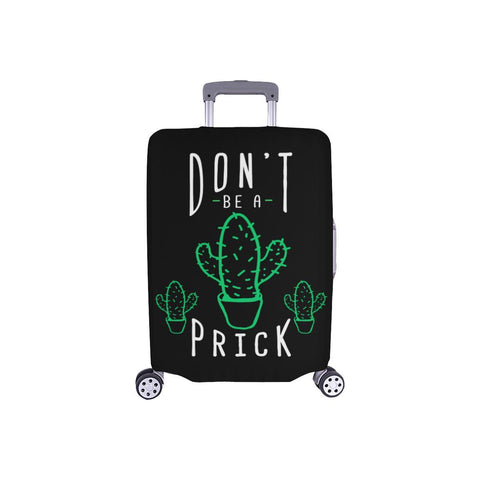 "Dont Be A Prick Funny Travel Luggage Cover Suitcase Protector 18""-28"" Baggage-S-Black-JoyHip.Com"
