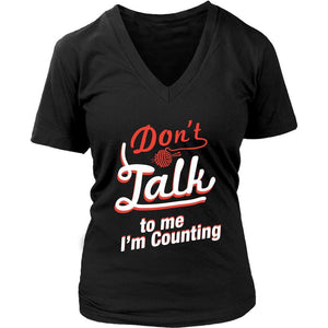 Dont Talk To Me Im Counting Great Gift Ideas For Knitters Funny Knitting V-Neck-T-shirt-District Womens V-Neck-Black-JoyHip.Com