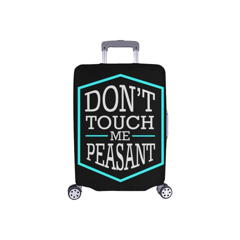 Dont Touch Me Peasant Funny Travel Luggage Cover Suitcase Protector Baggage Gift-S-Black-JoyHip.Com