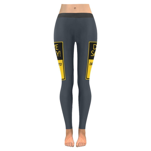 Drive Safely Or I Get To See You Naked Funny Paramedic EMT UPF40 Womens Leggings-JoyHip.Com