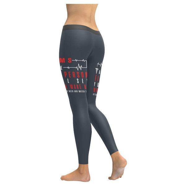 EMS I Am The 1st Person You See After Saying Hold My Beer & Watch This Leggings-JoyHip.Com