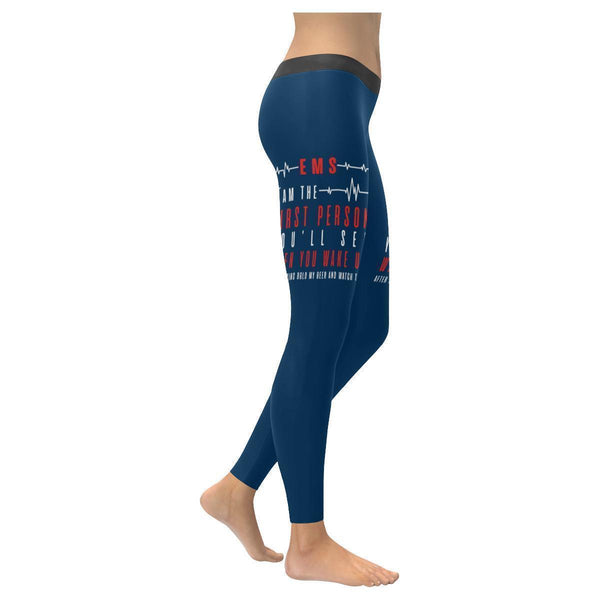 EMS I Am The 1st Person You See After Saying Hold My Beer & Watch This Leggings-XXS-Navy blue-JoyHip.Com