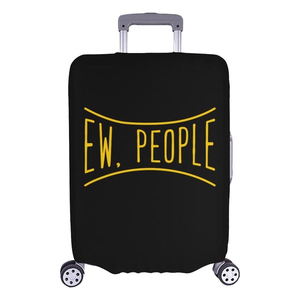 Ew People Funny Sarcasm Sarcastic Travel Luggage Cover Suitcase Protector-L-Black-JoyHip.Com