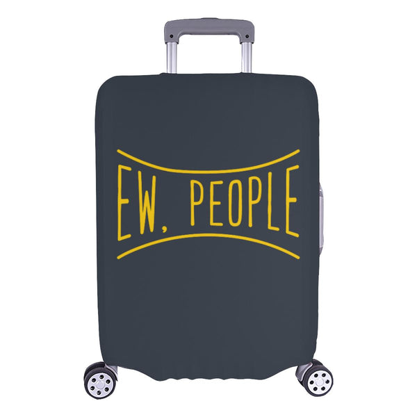Ew People Funny Sarcasm Sarcastic Travel Luggage Cover Suitcase Protector-L-Grey-JoyHip.Com
