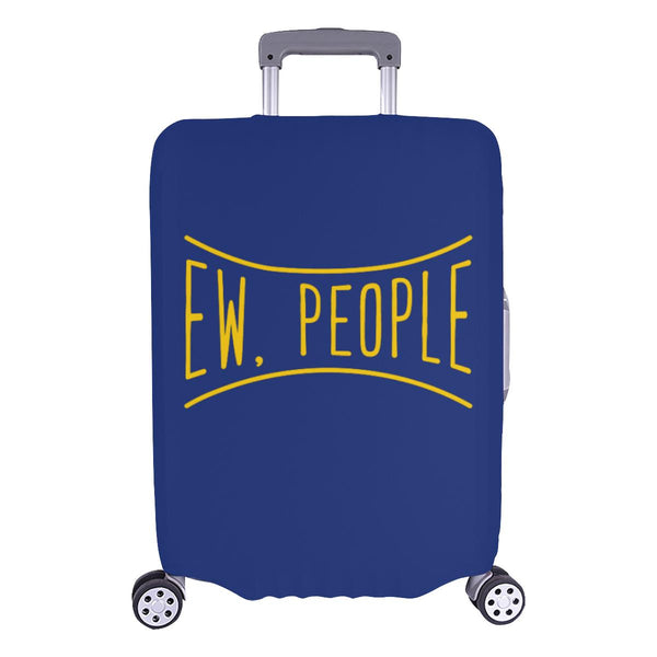 Ew People Funny Sarcasm Sarcastic Travel Luggage Cover Suitcase Protector-L-Navy-JoyHip.Com