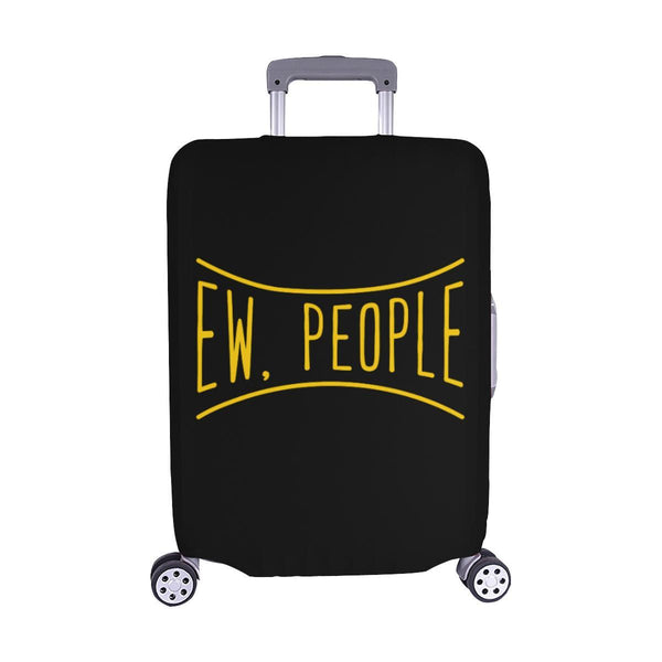Ew People Funny Sarcasm Sarcastic Travel Luggage Cover Suitcase Protector-M-Black-JoyHip.Com
