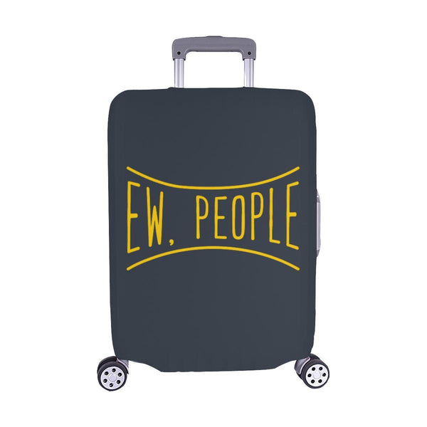 Ew People Funny Sarcasm Sarcastic Travel Luggage Cover Suitcase Protector-M-Grey-JoyHip.Com