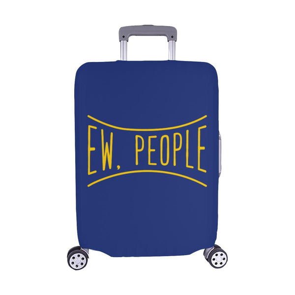 Ew People Funny Sarcasm Sarcastic Travel Luggage Cover Suitcase Protector-M-Navy-JoyHip.Com
