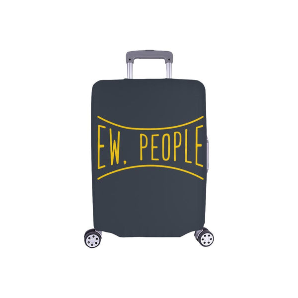 Ew People Funny Sarcasm Sarcastic Travel Luggage Cover Suitcase Protector-S-Grey-JoyHip.Com