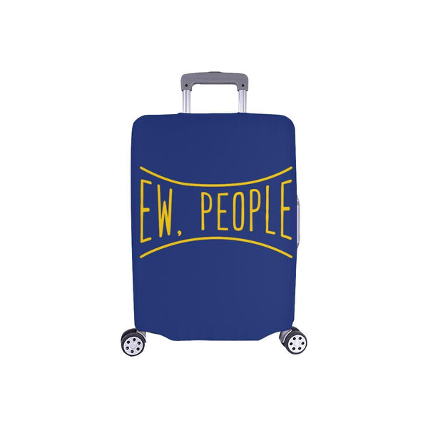 Ew People Funny Sarcasm Sarcastic Travel Luggage Cover Suitcase Protector-S-Navy-JoyHip.Com