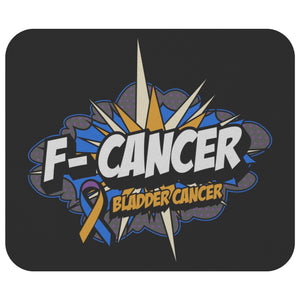 F-Cancer Bladder Cancer Awareness Comfort Gifts For Chemo Patients Cute Mouse Pad-Mousepads-Black-JoyHip.Com