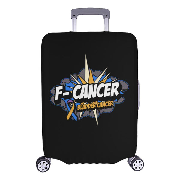 F-Cancer Bladder Cancer Travel Luggage Cover Suitcase Protector Baggage Gift-L-Black-JoyHip.Com