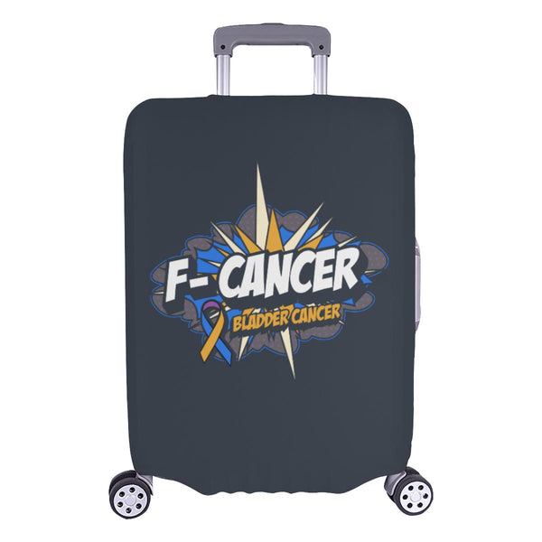 F-Cancer Bladder Cancer Travel Luggage Cover Suitcase Protector Baggage Gift-L-Grey-JoyHip.Com