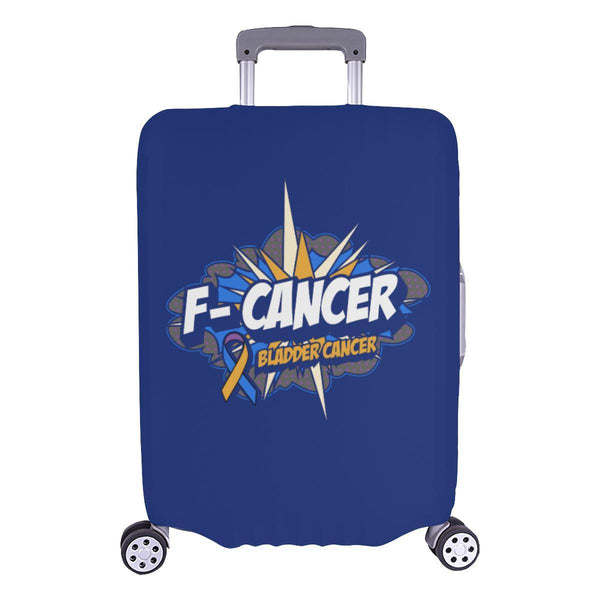 F-Cancer Bladder Cancer Travel Luggage Cover Suitcase Protector Baggage Gift-L-Navy-JoyHip.Com
