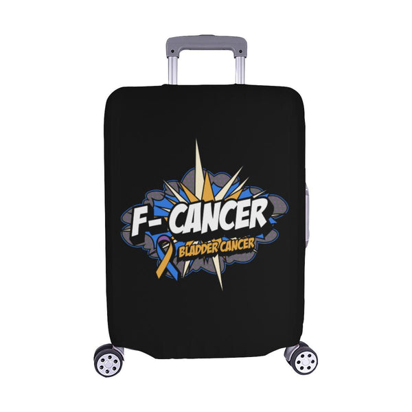 F-Cancer Bladder Cancer Travel Luggage Cover Suitcase Protector Baggage Gift-M-Black-JoyHip.Com
