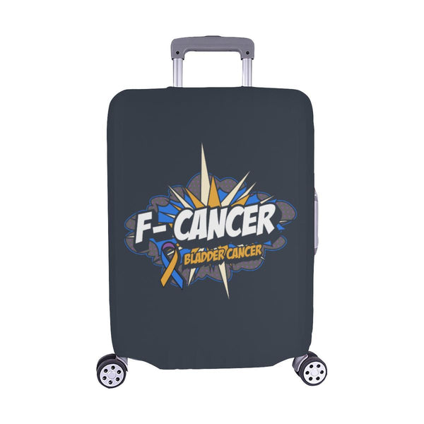 F-Cancer Bladder Cancer Travel Luggage Cover Suitcase Protector Baggage Gift-M-Grey-JoyHip.Com