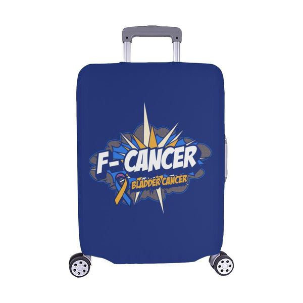 F-Cancer Bladder Cancer Travel Luggage Cover Suitcase Protector Baggage Gift-M-Navy-JoyHip.Com