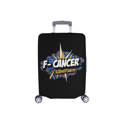 F-Cancer Bladder Cancer Travel Luggage Cover Suitcase Protector Baggage Gift-S-Black-JoyHip.Com