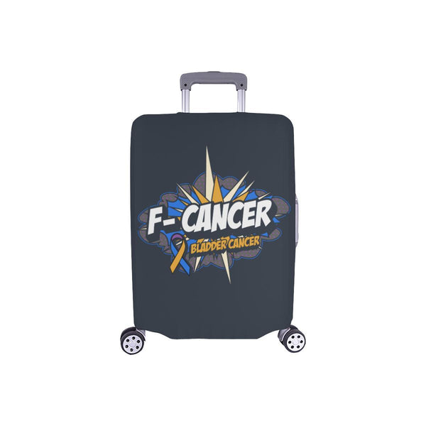 F-Cancer Bladder Cancer Travel Luggage Cover Suitcase Protector Baggage Gift-S-Grey-JoyHip.Com