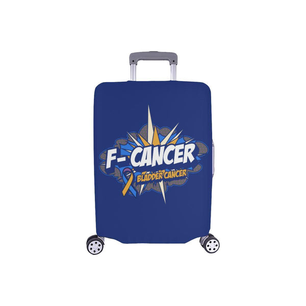 F-Cancer Bladder Cancer Travel Luggage Cover Suitcase Protector Baggage Gift-S-Navy-JoyHip.Com