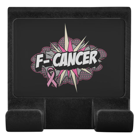 F-Cancer Breast Cancer Awareness Phone Monitor Holder For Laptop Desktop Gifts-Moniclip-Moniclip-JoyHip.Com