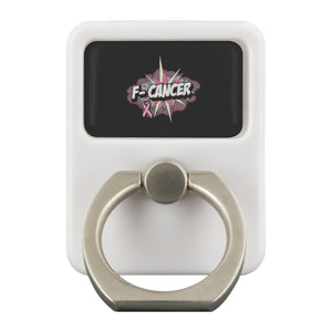 F-Cancer Breast Cancer Awareness Phone Ring Holder Kickstand Gifts Idea-Ringr - Multi-Tool Accessory-Ringr - Multi-Tool Accessory-JoyHip.Com