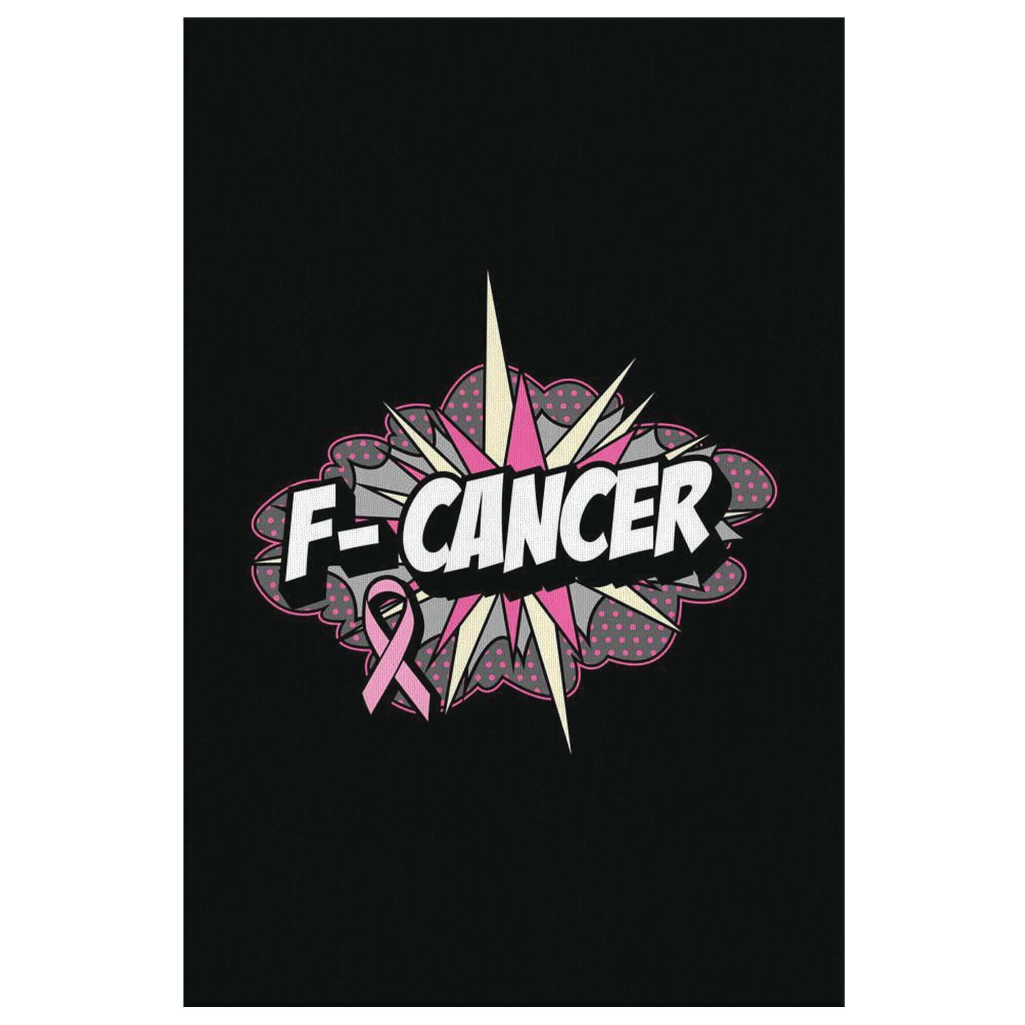 F-Cancer Cute Breast Cancer Awareness Canvas Wall Art Room Decor Home Gift Ideas-Canvas Wall Art 2-8 x 12-JoyHip.Com