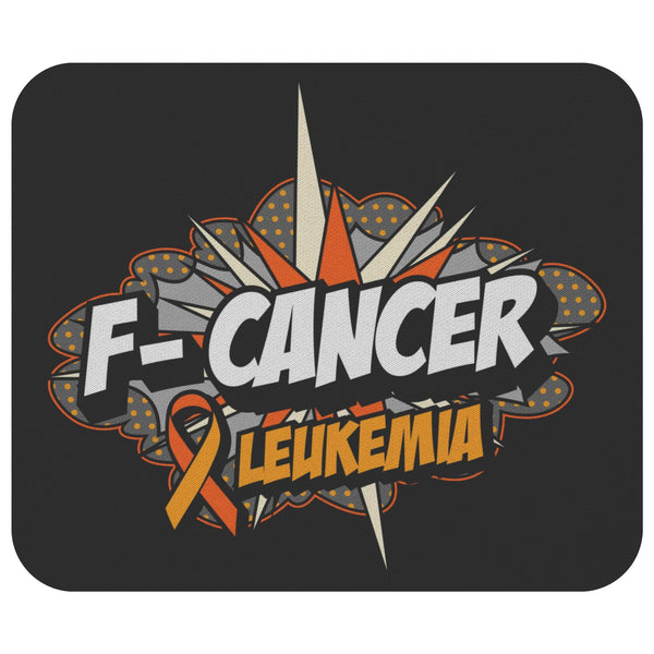F-Cancer Leukemia Cancer Awareness Comfort Gift For Chemo Patient Cute Mouse Pad-Mousepads-Black-JoyHip.Com