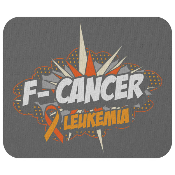 F-Cancer Leukemia Cancer Awareness Comfort Gift For Chemo Patient Cute Mouse Pad-Mousepads-Grey-JoyHip.Com