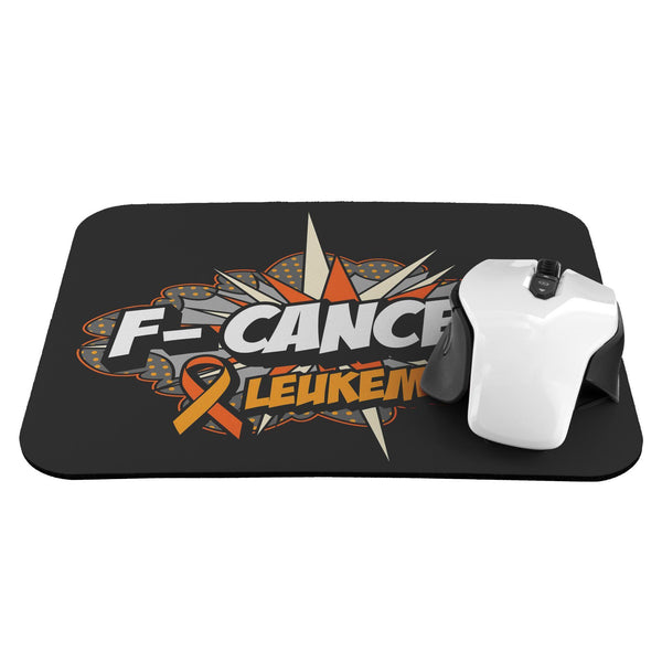 F-Cancer Leukemia Cancer Awareness Comfort Gift For Chemo Patient Cute Mouse Pad-Mousepads-JoyHip.Com