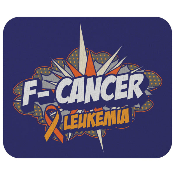 F-Cancer Leukemia Cancer Awareness Comfort Gift For Chemo Patient Cute Mouse Pad-Mousepads-Navy-JoyHip.Com