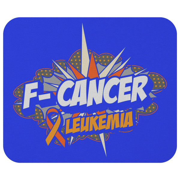 F-Cancer Leukemia Cancer Awareness Comfort Gift For Chemo Patient Cute Mouse Pad-Mousepads-Royal Blue-JoyHip.Com