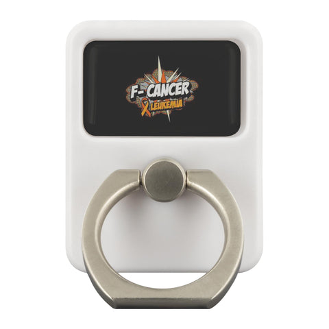 F-Cancer Leukemia Cancer Awareness Phone Ring Holder Kickstand Gifts Idea-Ringr - Multi-Tool Accessory-Ringr - Multi-Tool Accessory-JoyHip.Com