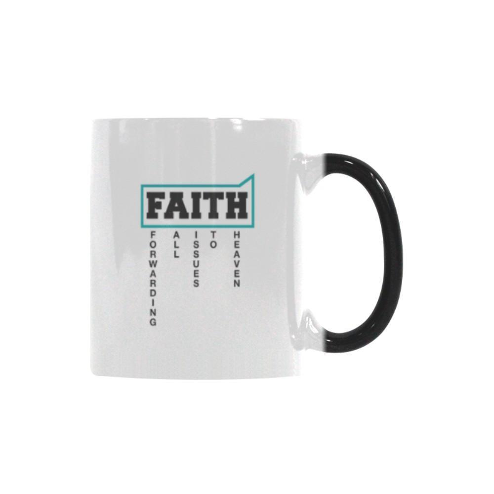 Faith = Forwarding All Issues To Heaven Christian Color Changing/Morphing 11oz Coffee Mug-Morphing Mug-One Size-JoyHip.Com