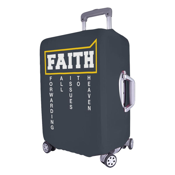 Faith = Forwarding All Issues To Heaven Christian Travel Luggage Cover Suitcase-JoyHip.Com