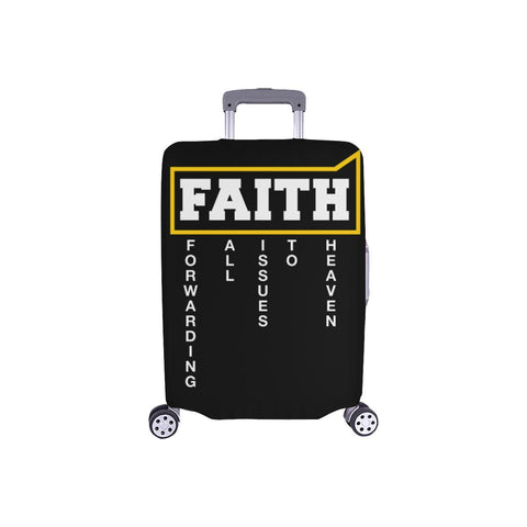 Faith = Forwarding All Issues To Heaven Christian Travel Luggage Cover Suitcase-S-Black-JoyHip.Com