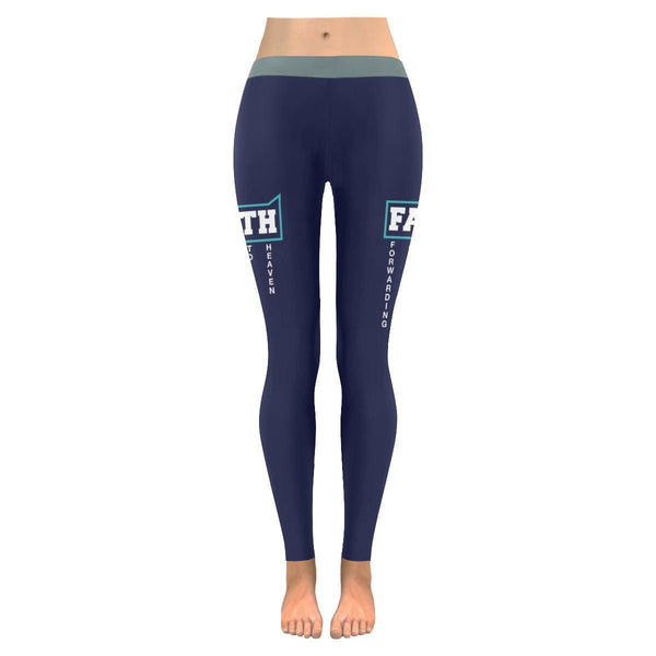 Faith = Forwarding All Issues To Heaven Funny Christian UPF40+ Womens Leggings-JoyHip.Com