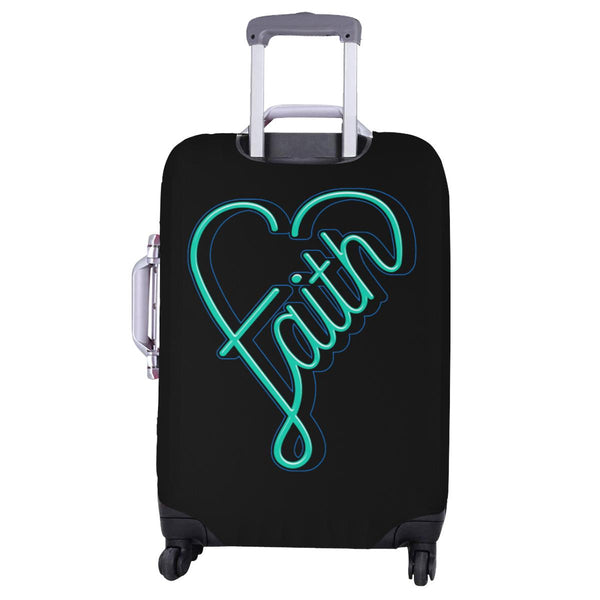 Faith Heart Christian Travel Luggage Cover Suitcase Protector Fits 18-28 Inch-JoyHip.Com