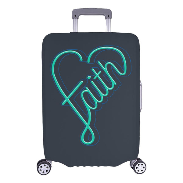 Faith Heart Christian Travel Luggage Cover Suitcase Protector Fits 18-28 Inch-L-Grey-JoyHip.Com