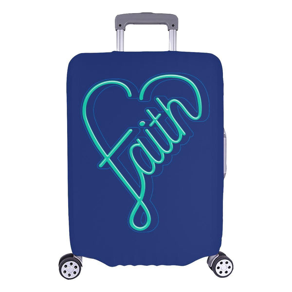 Faith Heart Christian Travel Luggage Cover Suitcase Protector Fits 18-28 Inch-L-Navy-JoyHip.Com