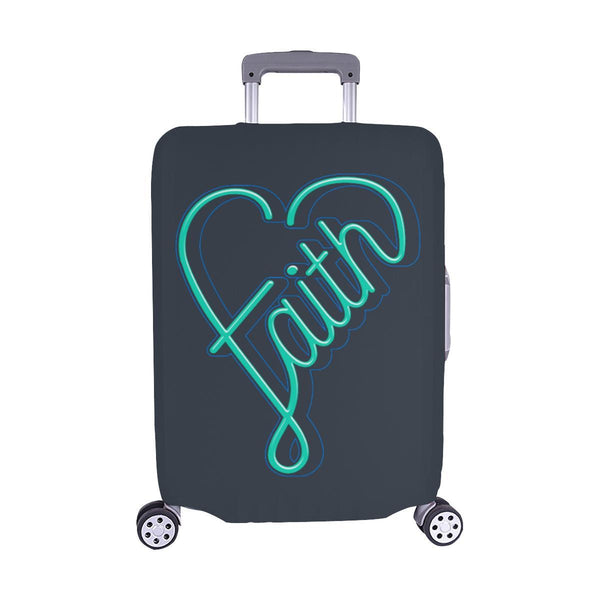 Faith Heart Christian Travel Luggage Cover Suitcase Protector Fits 18-28 Inch-M-Grey-JoyHip.Com