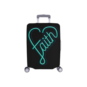 Faith Heart Christian Travel Luggage Cover Suitcase Protector Fits 18-28 Inch-S-Black-JoyHip.Com