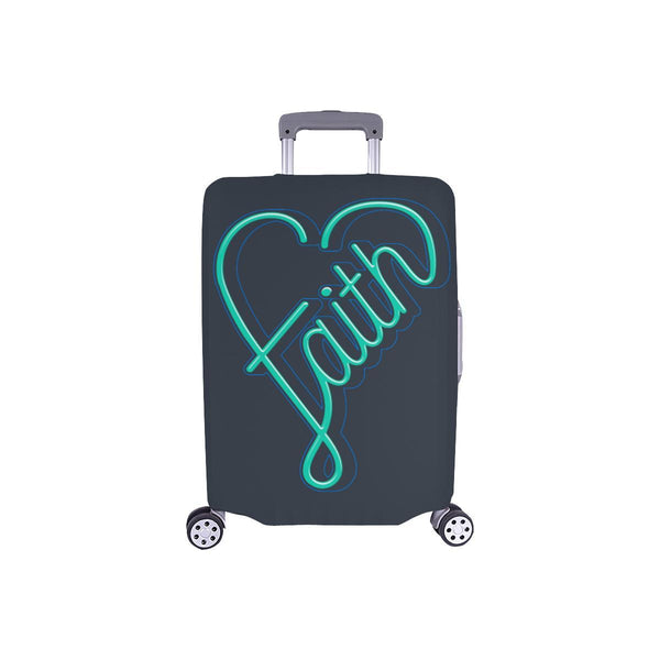 Faith Heart Christian Travel Luggage Cover Suitcase Protector Fits 18-28 Inch-S-Grey-JoyHip.Com