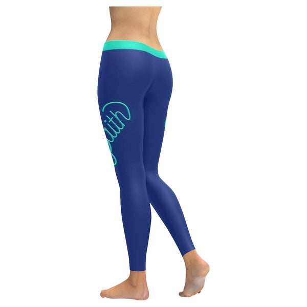 Faith Heart Soft Leggings For Women Cool Cute Funny Christian Gift Religious-JoyHip.Com