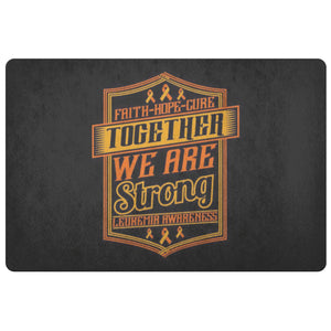 Faith Hope Cure Together Are Strong Leukemia Cancer 18X26 Thin Indoor Door Mat-Doormat-Black-JoyHip.Com