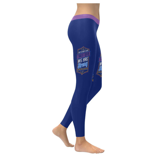 Faith Hope Cure Together We Are Strong Bladder Cancer Soft Leggings For Women-XXS-Navy-JoyHip.Com