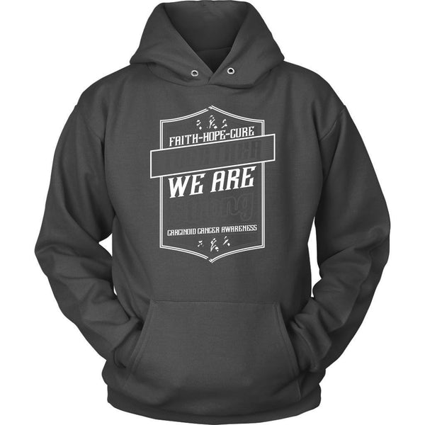Faith Hope Cure Together We Are Strong Carcinoid Cancer Awareness Gift Hoodie-T-shirt-Unisex Hoodie-Grey-JoyHip.Com
